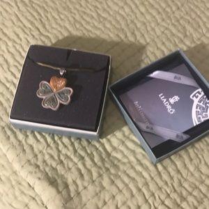 Lladro Talismania Necklace- Lucky Heart